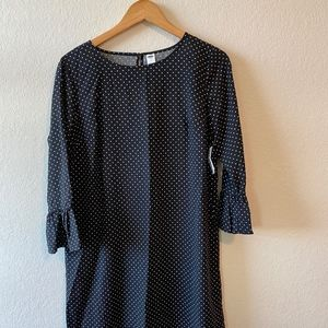 NWT Polka Dot Long Sleeve Dress with Bell Sleeves